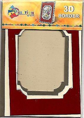 Creation By TBZ Card Making Decoupage 3D Border Mount  521138