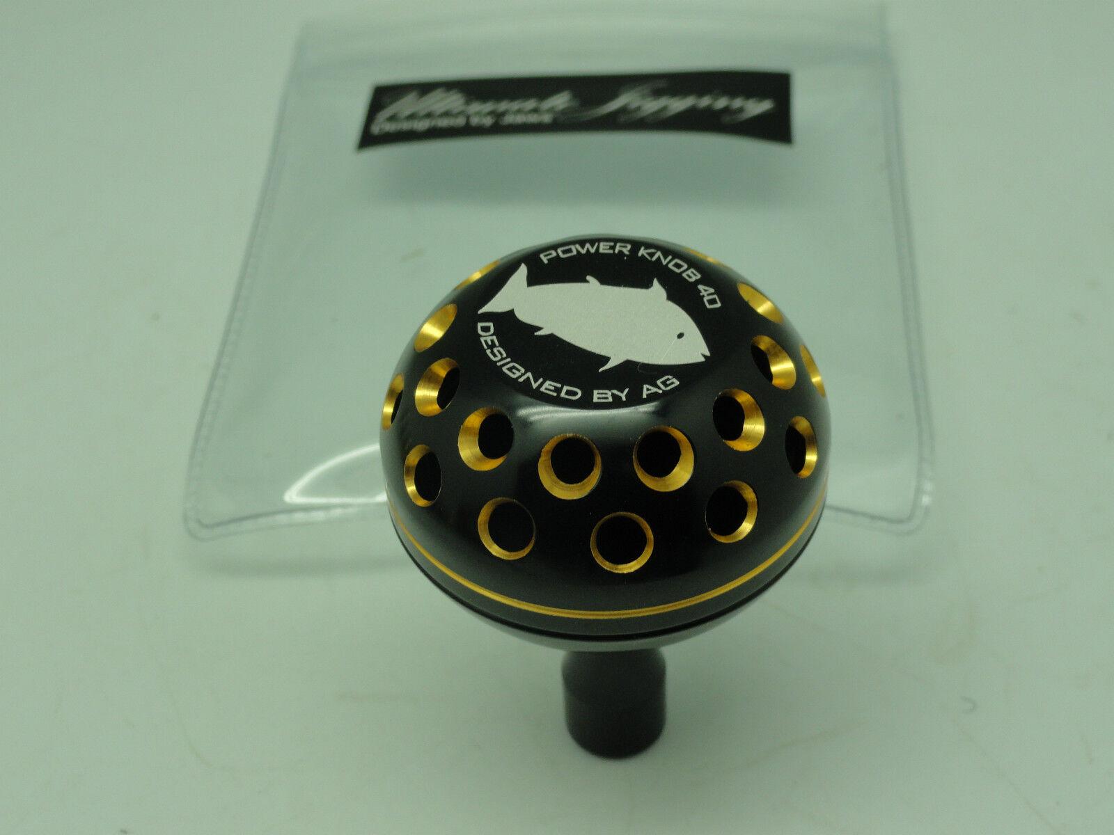 PRK45AG knob for Shimano Tranx Twinpower Daiwa Saltiga Tanacom Bull reel BLK GD