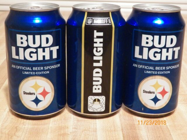 2015 PITTSBURGH STEELERS BUD LIGHT KICKOFF BEER CAN FOOTBALL PENNSYLVANIA SPORTS