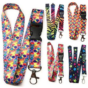 Rainbow Lanyard Neck strap for ID card key badge Holder Spirius