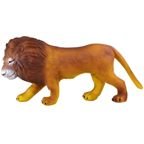 Large 19 (48cm) Lion Stuffed Rubber Realistic Details Play Toy Africa King