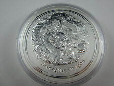 "2012 Silver LUNAR  ""YEAR OF THE DRAGON KILO specimen. Exceptional Perth Mint"