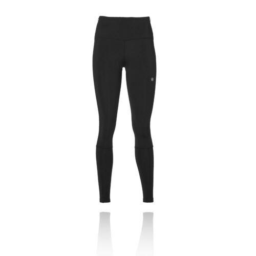 Asics Damen Hohe Taille Lange Hose Leggings Tights Schwarz Sports Gym Laufen