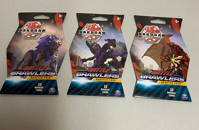 BAKUGAN Battle Planet Brawlers Set of 3 Booster 10 Card Packs 30 Total Cards