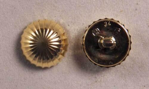 "Set of 6 JHB Gold Round Metalized Plastic Buttons Sun Burst 7//8"" 22 mm lyk0019"
