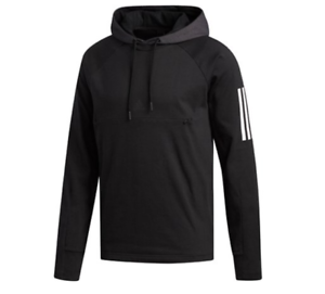 Details about New Large L Adidas Mens Sport Pullover jersey sweatshirt Hooded black Athletic
