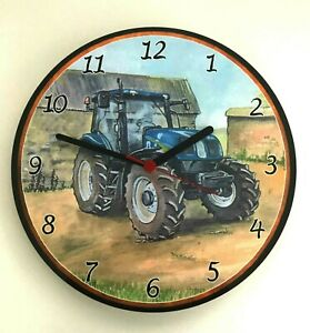 New-Holland-Tractor-Wall-Clock-Clock-new