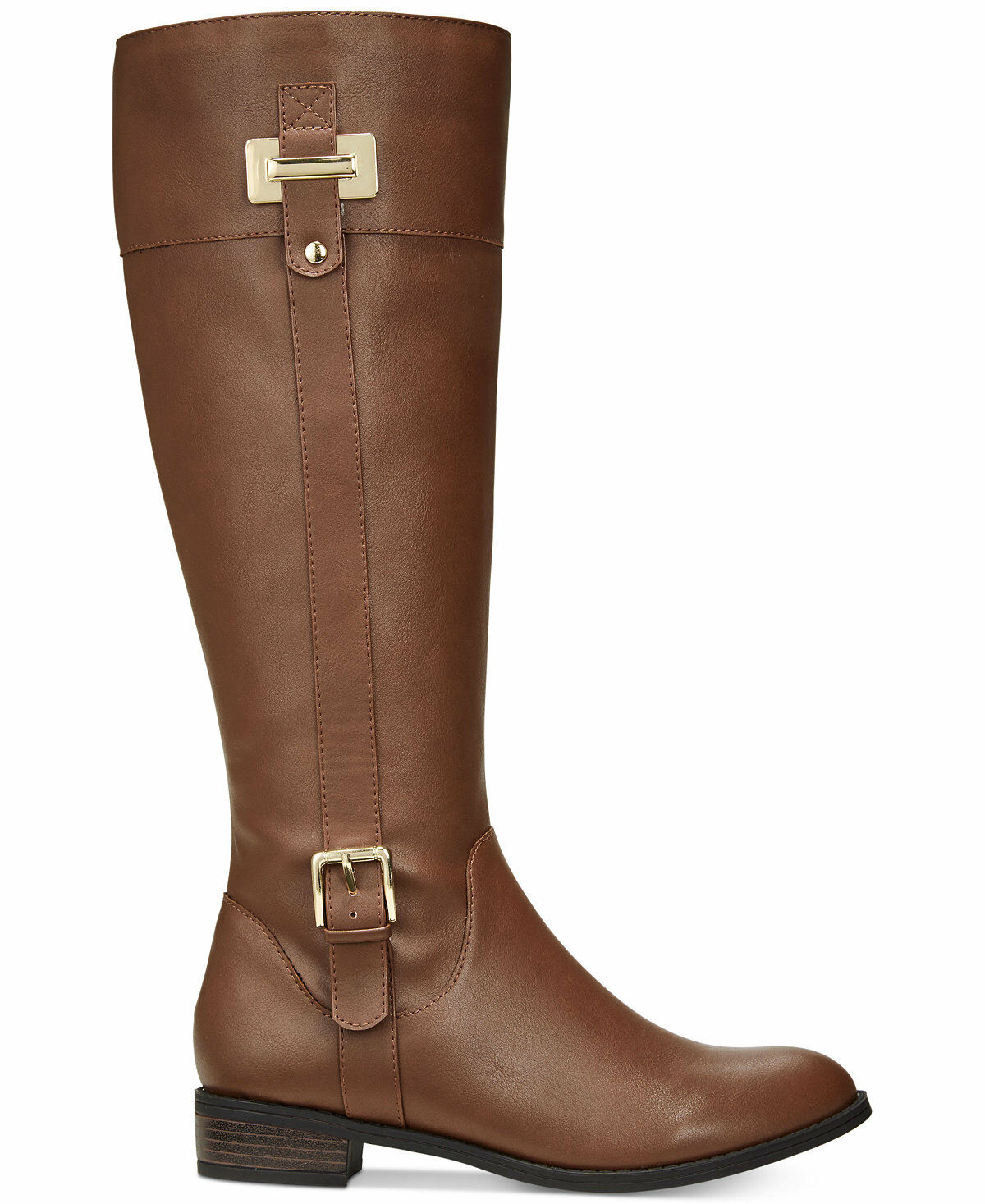 Karen Scott Deliee Womens Synthetic Fashion COGNAC- Knee-High SIZE 9.5M