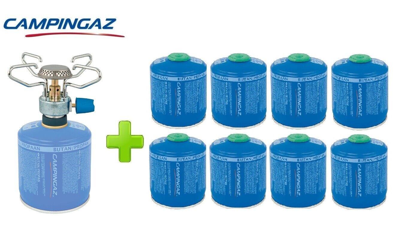 FORNELLO FORNELLINO A GAS bluET MICRO PLUS 1.230 W CAMPINGAZ + 8 PEZZI CV300
