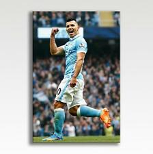 "Sergio Aguero Manchester City Canvas Poster Pic Photo Print Wall Art 30"" x 20"""