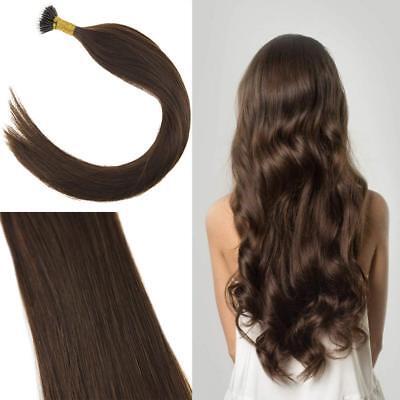 VeSunny Micro Loop Remy Human Hair Extensions 50gr Micro Ring Hair Dark Brown 4#