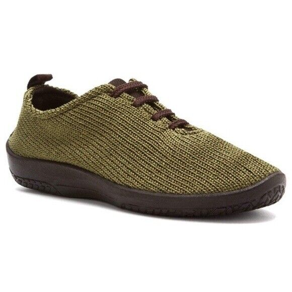 A'RCOPEDICO   LS Olive Nylon Knit Lace Up Shoes Sz 37