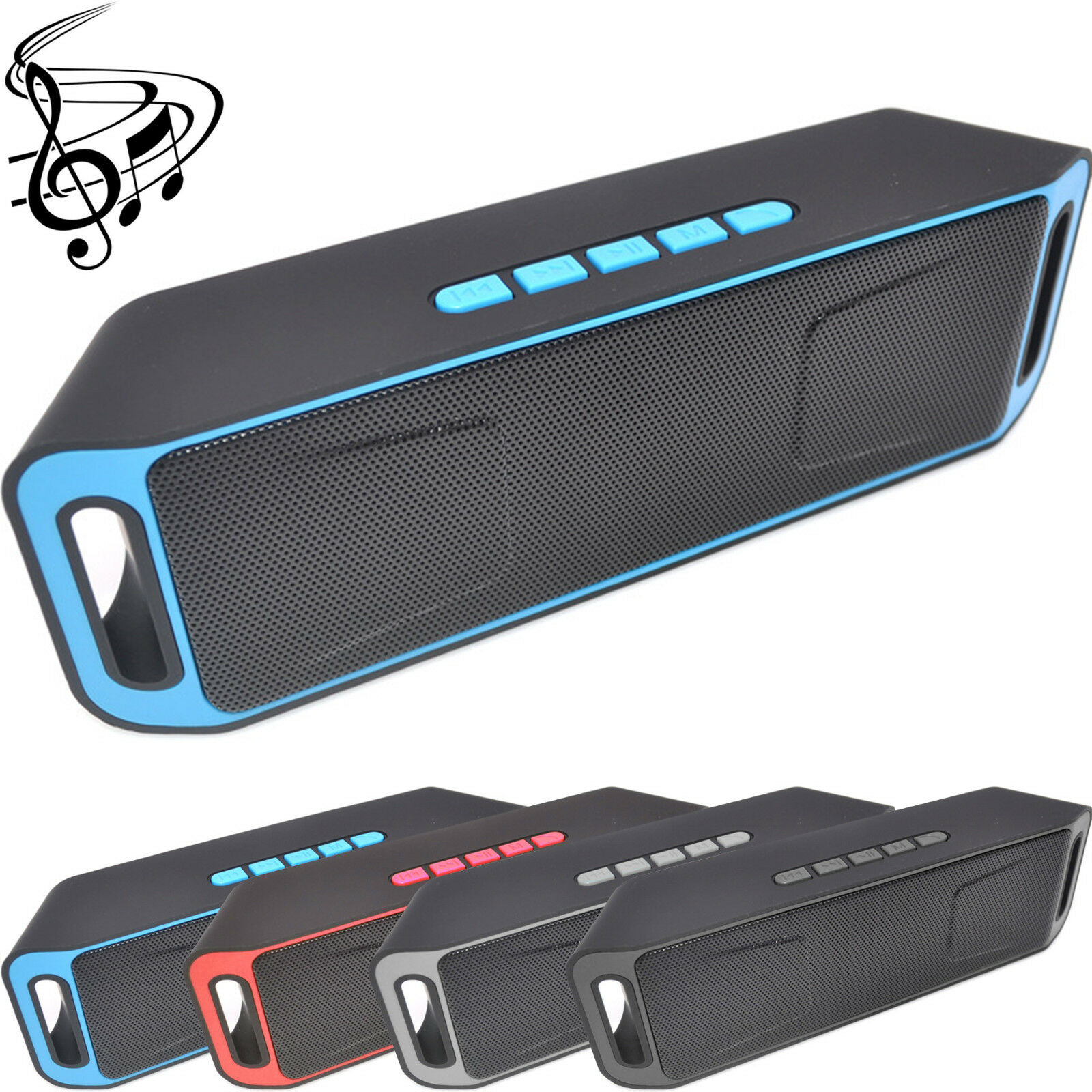 Portable Wireless Bluetooth Speaker Waterproof Bass USB/TF/AUX MP3 Radio Playe R 2