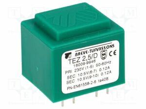 Transformador-Revestido-2-5VA-230VAC-10-5V-10-5V-119mA-119mA-TEZ2-5-D230-10-5-1