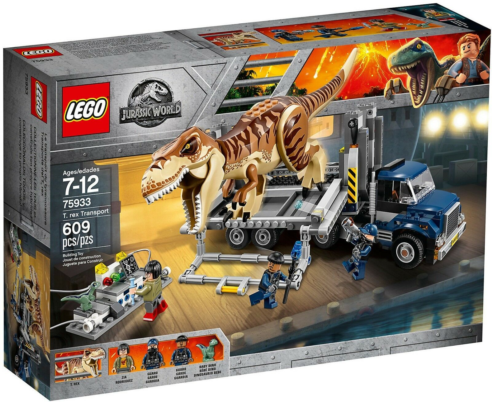 LEGO Jurassic World 75933 - Transport Du T. Rex NEUF RARE