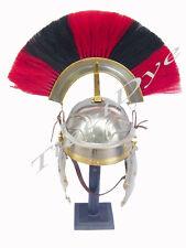 Roman Gallic Helmet / Netural + Rad   Plume - Centurion ear to ear