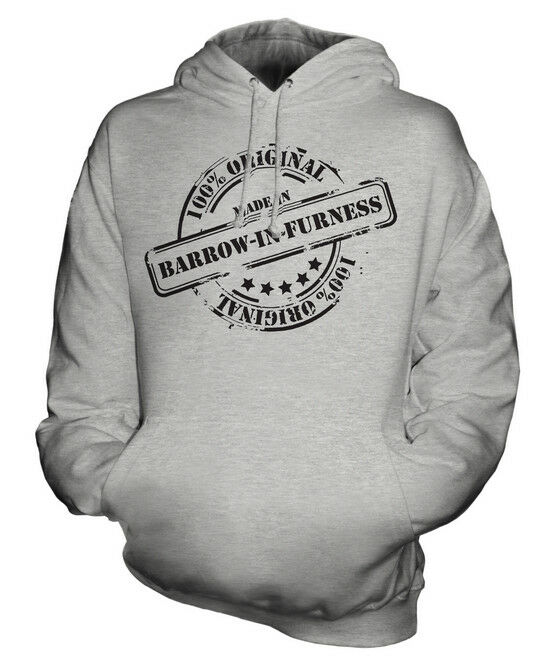 MADE IN BARROW-IN-FURNESS UNISEX HOODIE  Herren Damenschuhe LADIES GIFT BIRTHDAY