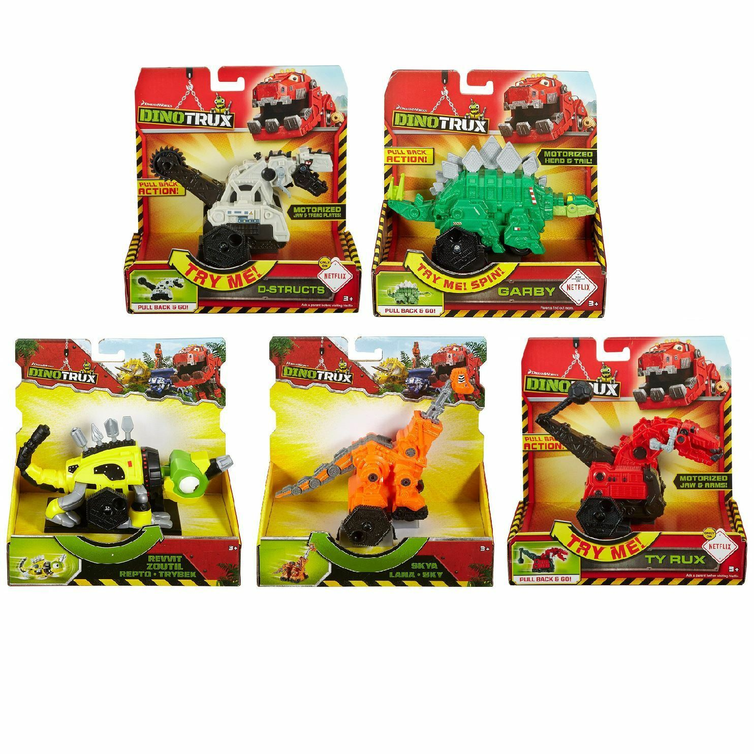 Mattel CJV90 Dinotrux Vehicle Toys