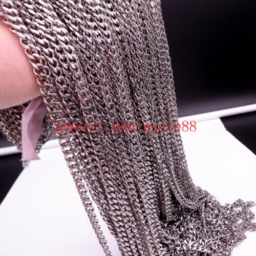 on sale Lot 3 meter heavy  8mm Curb Chain Stainless Steel Jewelry Finding Chain