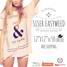 """Siser EasyWeed? HTV Heat Transfer Vinyl for T-Shirts 12"""" by the Yard Rolls"""