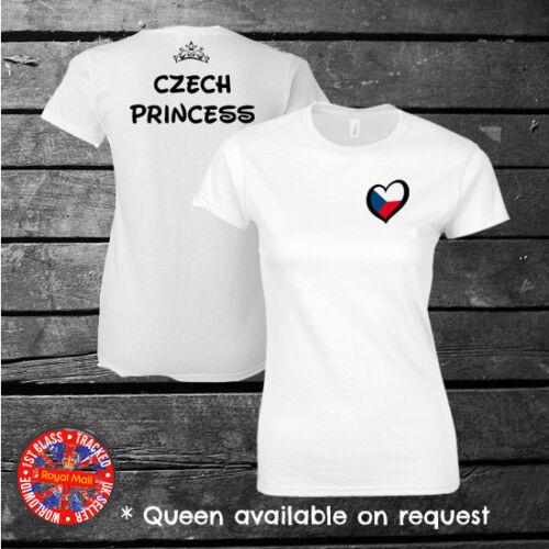 enfants femmes République tchèque Tchèque Princesse Disney T-shirt d/'inspiration EUROVISION