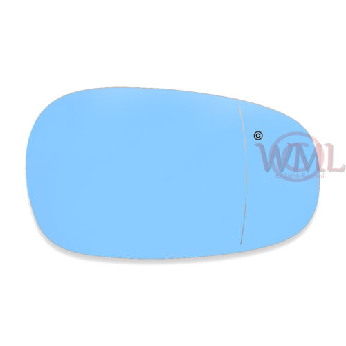 BMW 3 SERIES 08-/>11 DOOR//WING MIRROR GLASS BLUE ASPHERIC,HEATED/&BASE,RIGHTSIDE