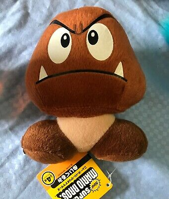 Super Mario 5 Goomba Plush Doll Brown Mushroom Figure Stuffed