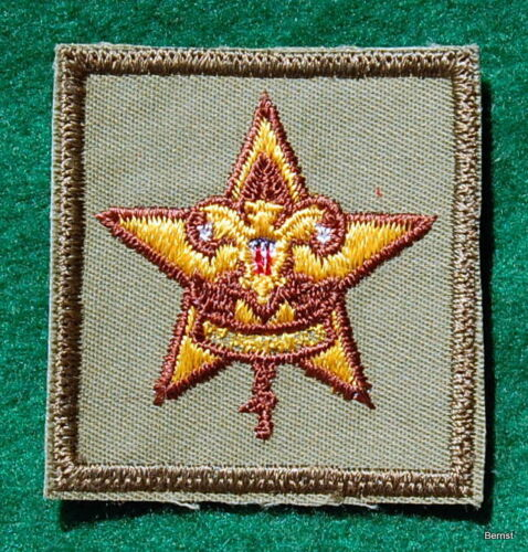 VINTAGE  BOY SCOUT RANK PATCH - STAR - PLASTIC BACK - NEW