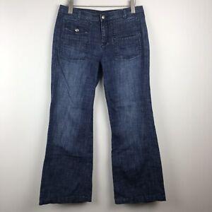 London-Jean-Women-039-s-Blue-Denim-Wide-Leg-Jeans-Size-10