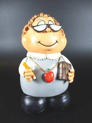 Weitere Sammelgebiete Aufrichtig Lehrerin Spardose Teacher Berufe Profession,money Bank 19 Cm Aus Polyresin,neu