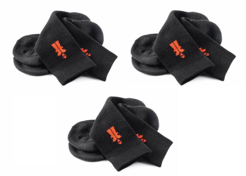 (3 Paires) X Scruffs Travailleur Chaussettes Noir Taille 7-9 1/2 Unisexe