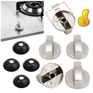 4x-Kitchen-Gas-Stove-Oven-Alloy-Rotary-Switch-Controller-Range-Knob-Dust-Cover