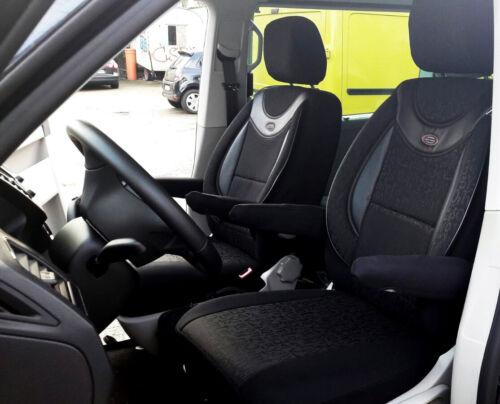 MAß Schonbezüge Sitzbezug Sitzbezüge VW T5 T6 MULTIVAN Fahrer /& Beifahrer N0435