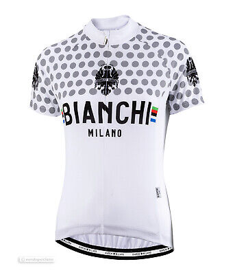 NEW Bianchi Milano 2019 CROSIA Womens Short Sleeve Cycling Jersey BLACK//CELESTE