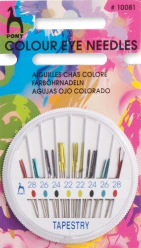 P10081 Pony Couleur Oeil Main Couture Tapisserie Aiguille Compact-per pack