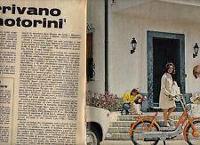 W22 Ritaglio Clipping 1968 Arrivano i motorini Ciao Piaggio Trotter Super Guzzi