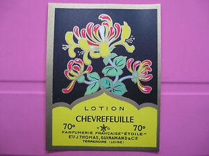 1-ANCIENNE-ETIQUETTE-DE-PARFUM-CHEVREFEUILLE-ANTIQUE-PERFUME-LABEL-FRENCH-PARIS