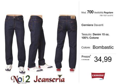 Carrera Jeans Mod Bombastic Zip Front 15 Oz Measures da 46 a 62 700 Dark Blue