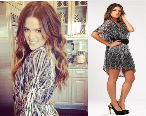 Kardashian Kollection black /& white ruched dress ~UK 8~Celebrity Style~SOLD OUT!