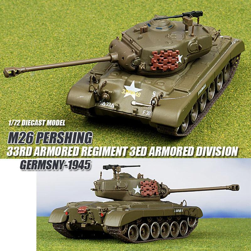 M26 regimiento blindado Pershing 33rd 3ed división 1 72 Diecast Tanque Blindado Ixo
