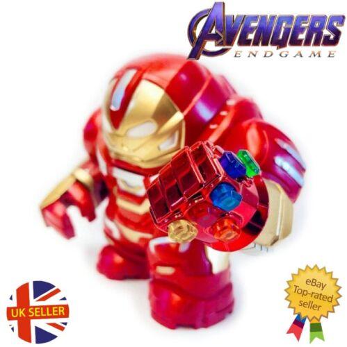 Avengers Mini Figure With Red Gauntlet Thanos Iron Man Hulk Block UK Seller