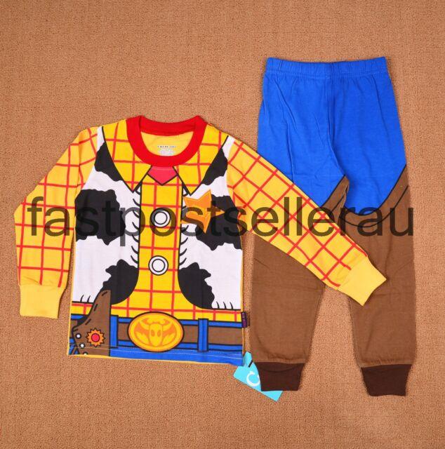 Toy Story Woody Boys Toddler Costume Pyjamas T-shirt PJ Sleepwear Kids 1-6 Years