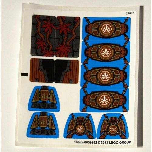 Legends Of Chima NEW LEGO Sticker Sheet ONLY for Set 70008 14502