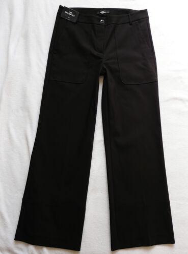 BNWT NEXT RRP42 Workwear Black Wide leg office smart work trousers stretch R//L