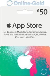 Itunes 50 Euro Prepaid Guthaben Karte Apple Store Deutschland