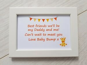 Best Friends Daddy Frame Gift Present New Dad To Be From Baby Bump