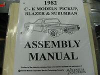 1982 Chevy Pickup, Blazer, Suburban Truck (all Models) Assembly Manual