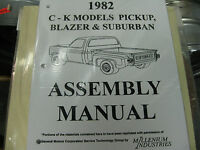 1982 Chevy Pickup, Blazer, Suburban Truck (all Models) Assembly Manual