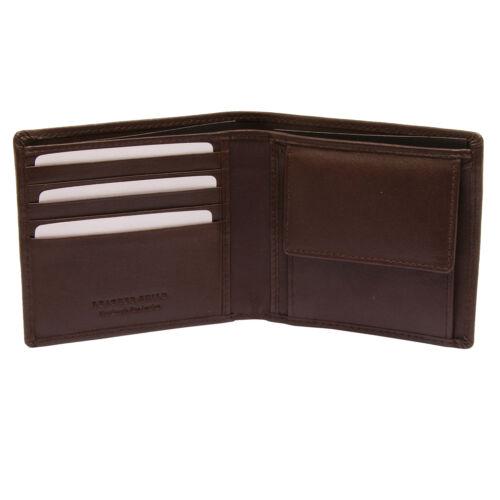 Pellmell-doux en cuir marron sac à main Porte-monnaie avec gravé Angler Design