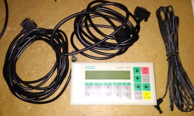 ⚡⚡NEW 🔷 Siemens op3 - 6av3 503 1db10 - operator panel - 6av3503-1db10 + cables
